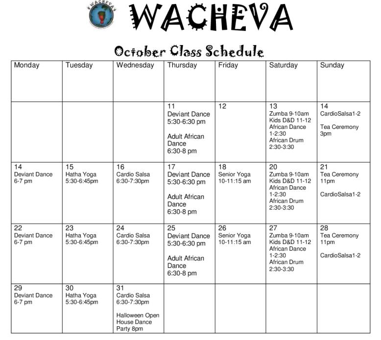wachevaschedule